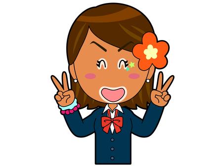 Double Piece _ Kogal High School Girl A_045
