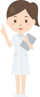 Nurse | Nurse clothes | White coat | OK