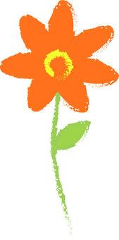 Orange flowers (hand-drawn style)