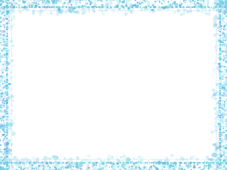 Dot & square frame 3 (light blue)