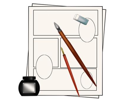Cartoon painting material