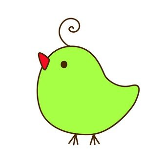 Green bird 14