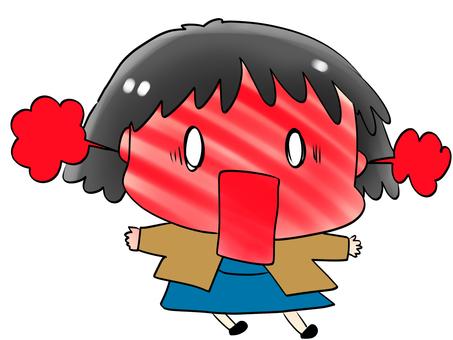 Erupting girl