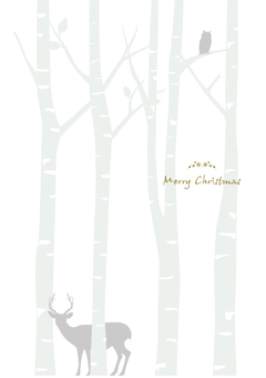 Christmas card birch