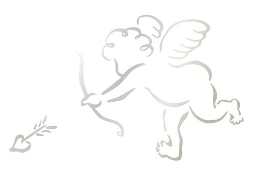 キューピッド銀-筆描き