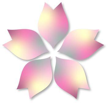 Cherry blossom, gradation, vectors