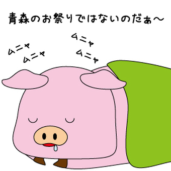 Sleeping pig but the festival is ...