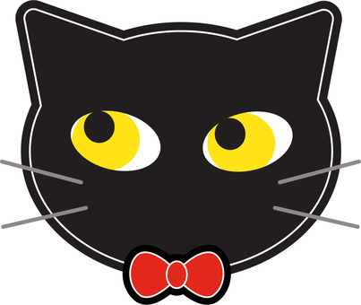 Black cat ribbon 2