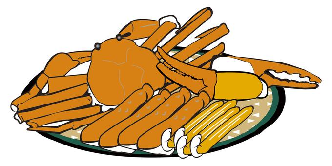 Crushed crab