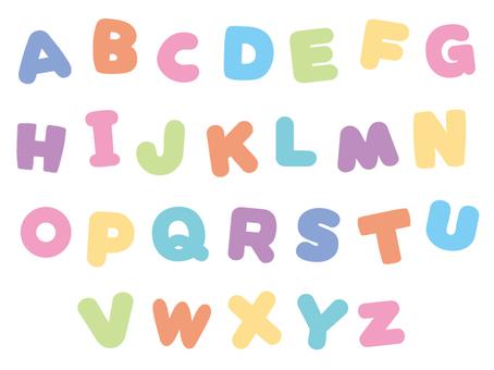 パステルアルファベット