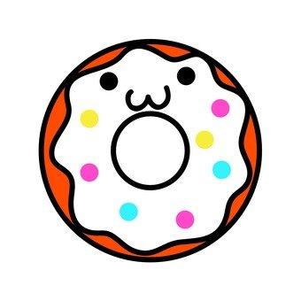 白巧克力甜甜圈