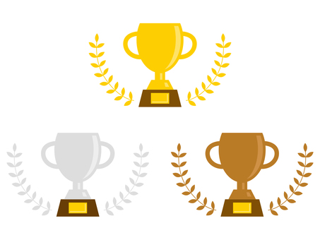 Trophy illustration set