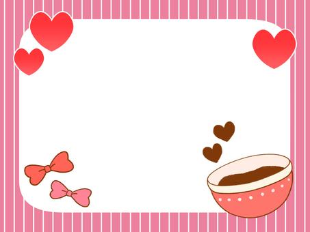 발렌타인 쿠킹 배경
