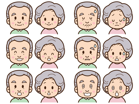An elderly sexual expression set