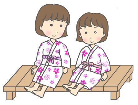 Yukata sisters