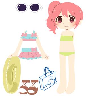 Dress up illustration ④