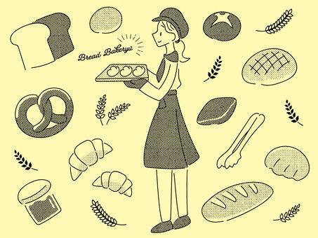 麵包店插圖集(黑色)
