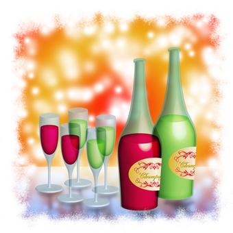 Bonenkai / New Year party image wine