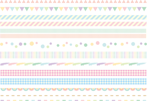 Pastel color line set