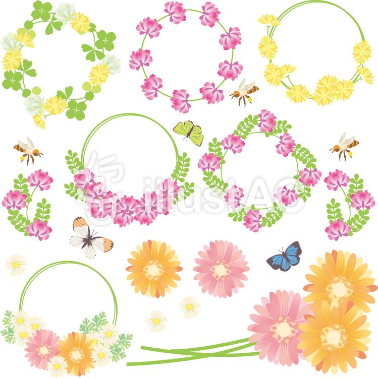 春の花セット02イラスト No 357701無料イラストならイラストac