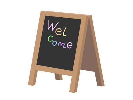 Signboard (blackboard welcome)