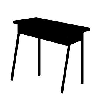 Desk silhouette
