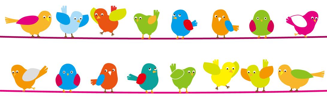 Wire matrix of small birds