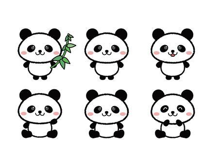 Handwriting style panda