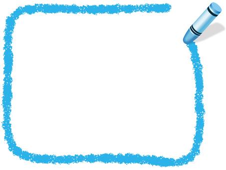Crayon Handwritten Frame 1 Blue