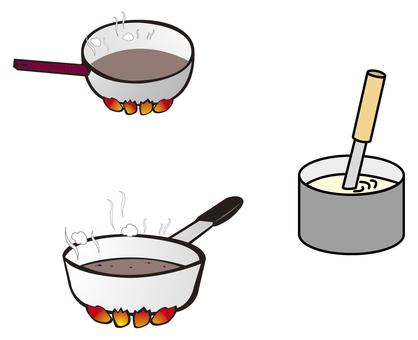 Cook in a pot