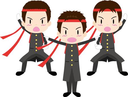 Cheering team 3 people (boys)