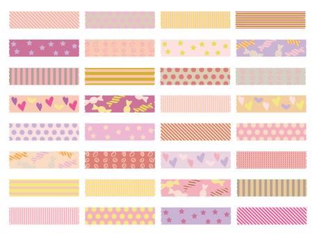粉红色类型的胶带