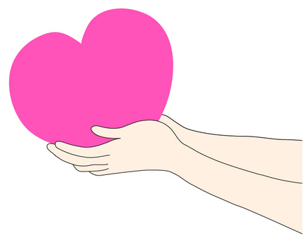 Hands to pass the heart