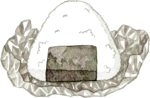 用鋁箔包裹的飯