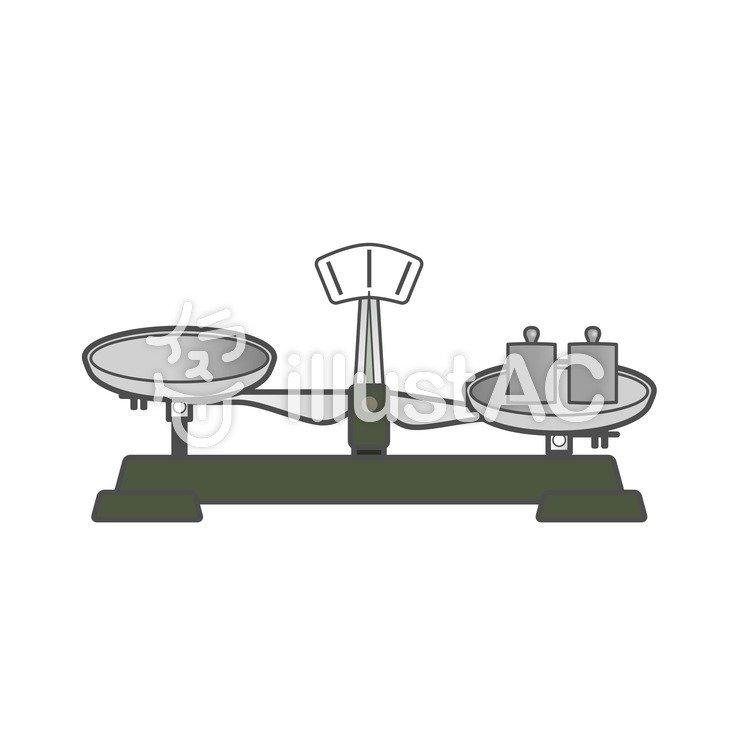 上皿天秤と分銅イラスト No 206173無料イラストならイラストac