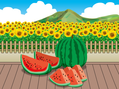 Watermelon and Sunflower (3) Mountain ranges of rim and plateau