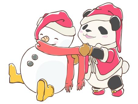 動物-パンダ・クリスマス