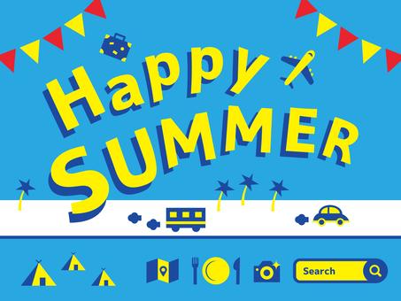 快樂的夏天4夏天字符圖標