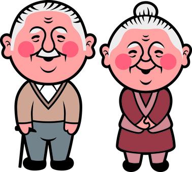 2 등신 노부부 캐릭터 A