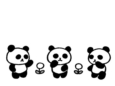 Talking panda 3 (monochrome)