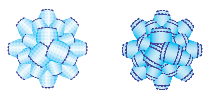 Ribbon for wrapping _ Blue 2