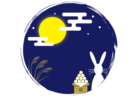 Rabbit moon view · round shape