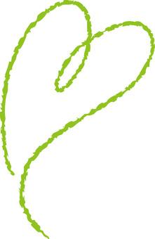 Yellow green heart