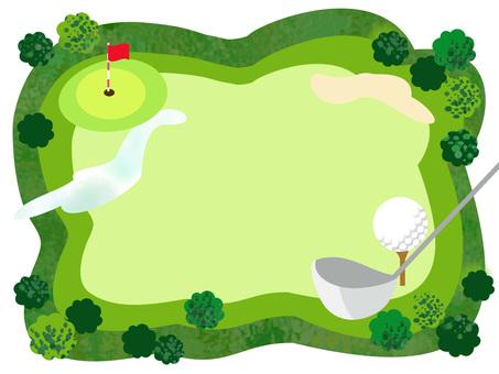 Golf course frame