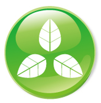 3-leaf icon - green