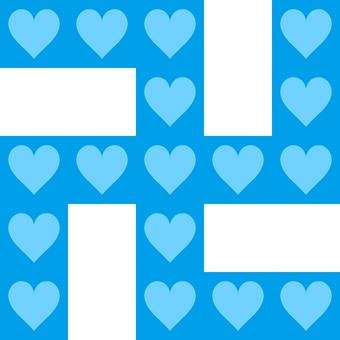 Swastika heart _ light blue