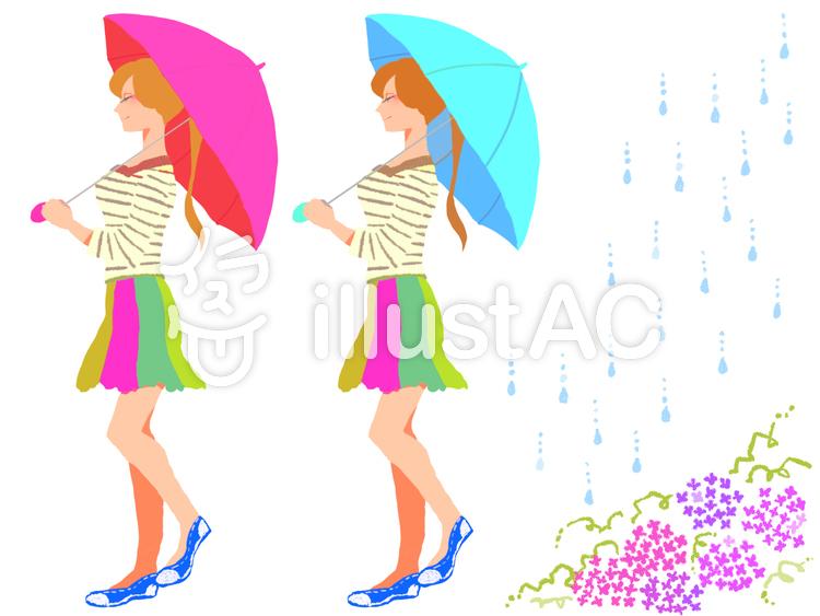 傘を差す女性イラスト No 760193無料イラストならイラストac