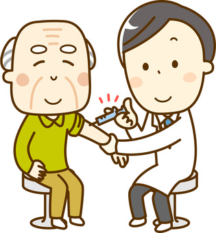 Vaccination _ Elderly male