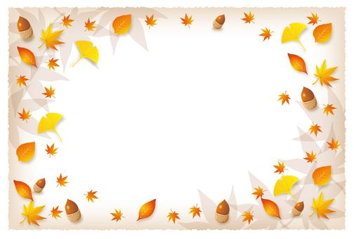 낙엽 프레임 배경