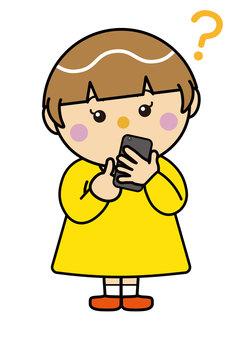 Girl 10_01 (smartphone and Hatena)